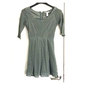 Charlotte Russe sage color dress size S